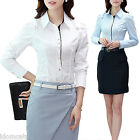 Corporate winter long Sleeve Business Shirt Ladies Blouse Vintage Top Size