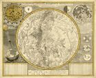 MP67 Vintage 1700 Zodiac Astronomy Constellations Celestial Map Poster A1/A2/A3