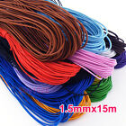 1Roll Elastic Jewelry Bracelet Making Beading Stretch Cord Thread 15Mx1.5mm
