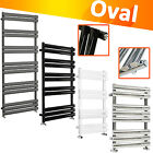 Designer Oval Column Heated Towel Rail Bathroom Heater UK Centre Heating