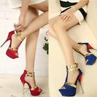 New Fashion Womens Platform Open Toe Wedding High Heels Pumps Shoes 3 Colors
