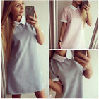 Womens Short Sleeve Boho Casual Long Tops Ladies Summer Mini Dress Tyd31-4