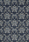 Dalyn Navy Contemporary Synthetics Swirls Curves Petals Area Rug Floral GV524