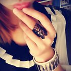 2015 Fashion Jewelry Black Gold Hollow Lace Flower Ring Finger Rings For Women