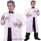 CL779 Mad Scientist Evil Doctor White Coat Lab Einstein Halloween Mens Costume