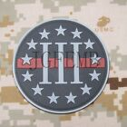 The thin Red Line 3% III PERCENT DEFEND LIBERTY 3D PVC Patch