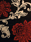 Red Contemporary Leaves Vines Stems Petals Area Rug United Weavers 851-10830