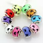 10 x 50 x 100 x Big Hole Baby Feet  Beads Mix For Charm Bracelet Choose Qty ZH10