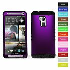 For Htc One Max Purple Rkr Hard&rubber Shockproof Rugged Armor Phone Case Cover