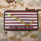 DON'T TREAD ON ME America flag 3D PVC Patch Snake