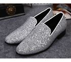 US Size 5-12 New Top Bling Leather Mens Dress Formal Loafer Shoes Free Cufflink