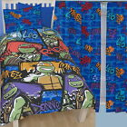 "TMNT Turtles Xtreme Single Duvet and Matching 54"" Curtains with Lining Bed Set"