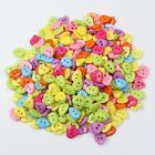 20-1000pcs Mix Plastic Sewing Buttons Scrapbook 10-15mm 2 Holes For Craft DIY