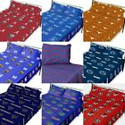 NCAA College Bed-sheet Set - Sports Logo Colored Flat and Fitted Bedroom - PICK TEAM