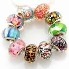 10 x 50 x 100 x Big Hole Faceted Beads Mix For Charm Bracelet Choose Qty ZH12