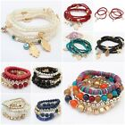 New Stylish Womens Boho Wholesale Multilayer Acrylic Beads Beach Bracelet Bangle