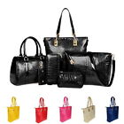 6PCS set New Noble Women Handbag Shoulder Bags Totes Messenger Bag Purse Leather