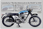 Triumph Bonneville British Motorcycle Retro Metal Sign