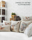 Cute Color Animal Deer Bird Pillow Case Cushion Cover Square Oblong Sofa Decor