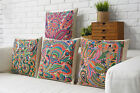 Color Classical National Style Pillow Case Cushion Cover Square Sofa Decor 43cm