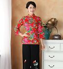 Tradition Chinese Style Cotton Festival Women Evening Jacket Coat Outwear Dress