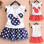 Bimbi Piccoli Bambine Minnie Mouse Vestito Estivo Da Party Canottiera Gonna