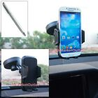 Car/SUV Windshield Suction Cup Mount Holder+Stylus Touch Pen for Sony Mobile