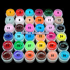 1Pc 36 Pure Color Extension Nail Art UV Gel Builder Tips Polish Manicure 5ML Kit