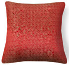 BL055a Gold Checker on Red Rayon Brocade Cushion Cover/Pillow Case*Custom Size