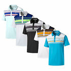 New Men's Puma Golf Key Stripe Short Sleeve Polo Shirt 2016 Choose Size & Color