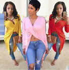 Sexy Hot 6 Color Womens Ladies Dress Chiffon Long Loose V neck Party Prom Summer