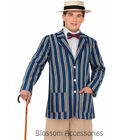 CL823 Roaring 20s Baoter Jacket Gangster Gatsby Mens Fancy Dress Up Costume