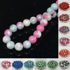 8mm Multicolor Turquoise Round Stone Loose Beads Jewelry Making DIY Finding 50pc