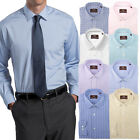 Hickey Freeman Men's Long Sleeve Cotton Dress Shirt Button Up Down Spread Collar
