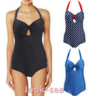 Vintage Women Bandage  Swimsuit Padded  Bra Bathing Bikini Swimwear monokini