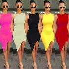 New Women Mini Dress Sleeveless Bodycon Pencil Evening Party Beach Dress Shorts