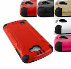 FOR LG OPTIMUS ZONE 3 VS425PP K4  SPREE BRUSHED ARMOR CASE TPU SKIN COVER+STYLUS