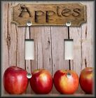 Metal Apples Light Switch Plate Cover Kitchen Decor Apple Wo