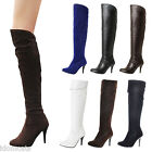 Ladies NEW Shoes Over Knee Riding Boots UK size 1 2 3 4 5 6 7 8 9 10 11 12 13 14