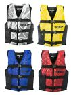 Fly Racing Unisex Adult PWC Nylon Life Vest Jacket Black/White XS-2XL