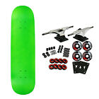 "MOOSE Blank Skateboared Complete 7.75"" NEON GREEN - With Griptape"