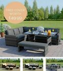 9 Seater Rattan Corner Garden Sofa & Dining Set Furniture 2016 Black Brown Grey