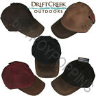 1-DRIFT CREEK OUTDOORS HEADWEAR-ALASKAN HAT OILCLOTH W/LEATHER BILL GOLF FISHING