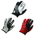 Motorcycle Motocross MX BMX ATV Dirt Bike Bicycle Textile Gloves Red Black White