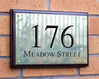 Traditional Deep Engraved Solid Brass House Sign And Solid Mahogany Backingboard