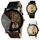 1Pair Fashion Couples Watches Leather Belt Casual Quartz Watches Valentine's day
