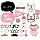 20pcs Baby Shower One Party Baby Bottle Masks Photo Booth Props On A Stick Favor