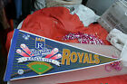 MLB Kansas City Royals Vintage 4 Baseballs Logo Pennant Full Size Baseball 1990