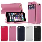 For Apple iPhone 6 6s Flip PU Leather Screen View Window Cover Case with Stand
