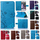 For Nokia Luxury Leather Butterfly Card Wallet Flip PU+TPU Kickstand Case Cover